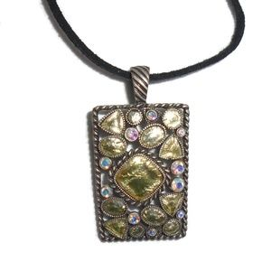 Lia Sophia Beaded Pendant Necklace Accent Beads